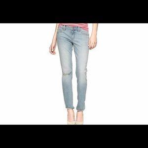 GAP 1969 Always Skinny Skimmer Destructed Jeans